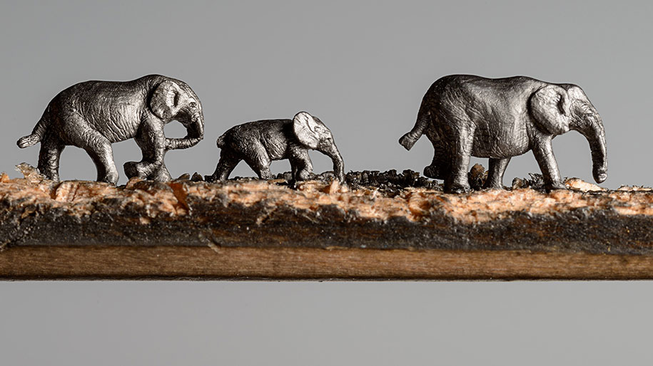 pencil-carving-graphite-art-elephant-walk-cindy-chinn-7