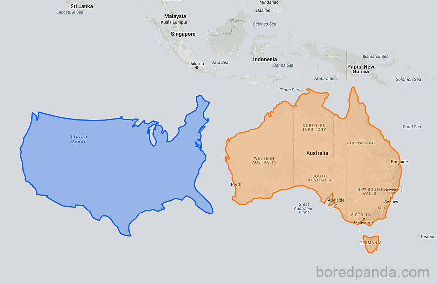 15 Maps Reveal How The World Actually Looks Demilked - Map-of-us-countries