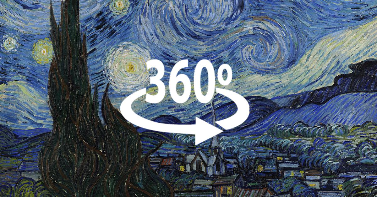 van gogh u2019s  u2018starry night u2019 in 360 degrees