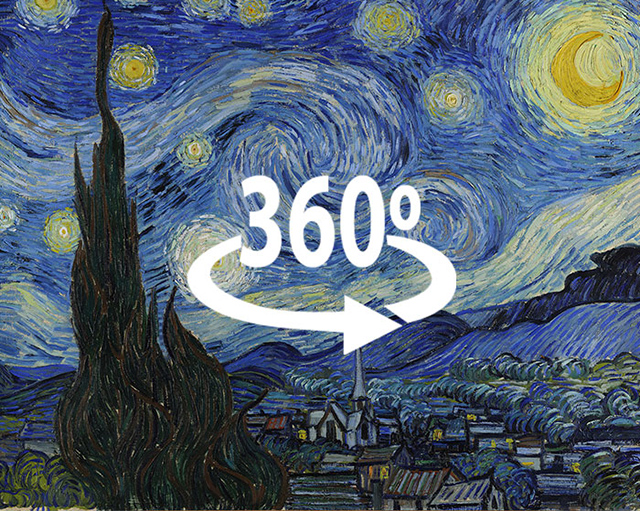 The starry night demilked for Mural van gogh