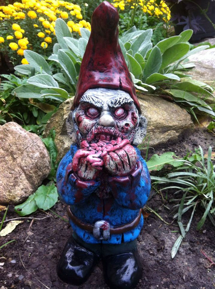Gnome Garden: Zombie Gnomes Are A Perfect Way To Keep Everyone From Your
