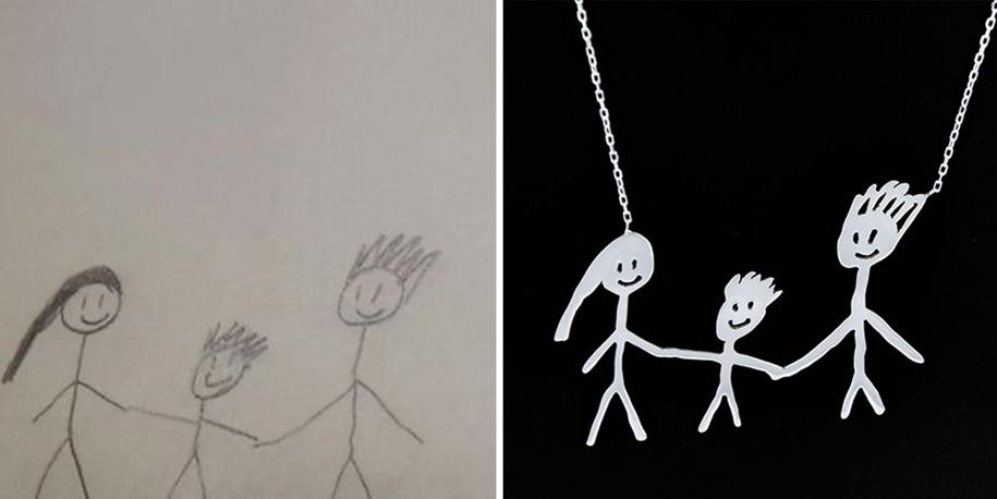 artists-turn-children-doodles-into-jewelry-yasemin-erdin-ozgur-karavit-2