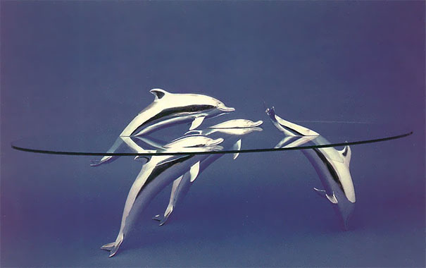 Creative Table Designs Create An Illusion Of Animals In Water