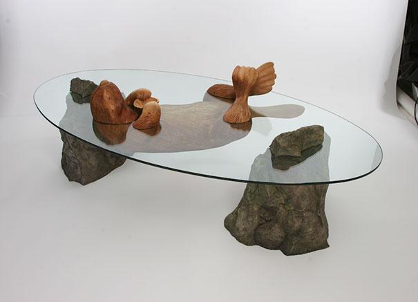 Creative Tables Design Water Animals Derek Pearce 8