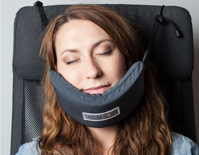 head hammock that will finally let you sleep  fortably on a plane  rh   demilked