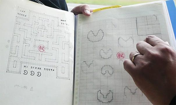 pac-man-original-drawings-toru-iwatani-1