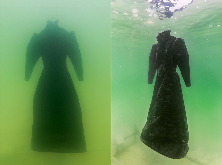 Artist Leaves A Dress In The Dead Sea For 2 Months And It
