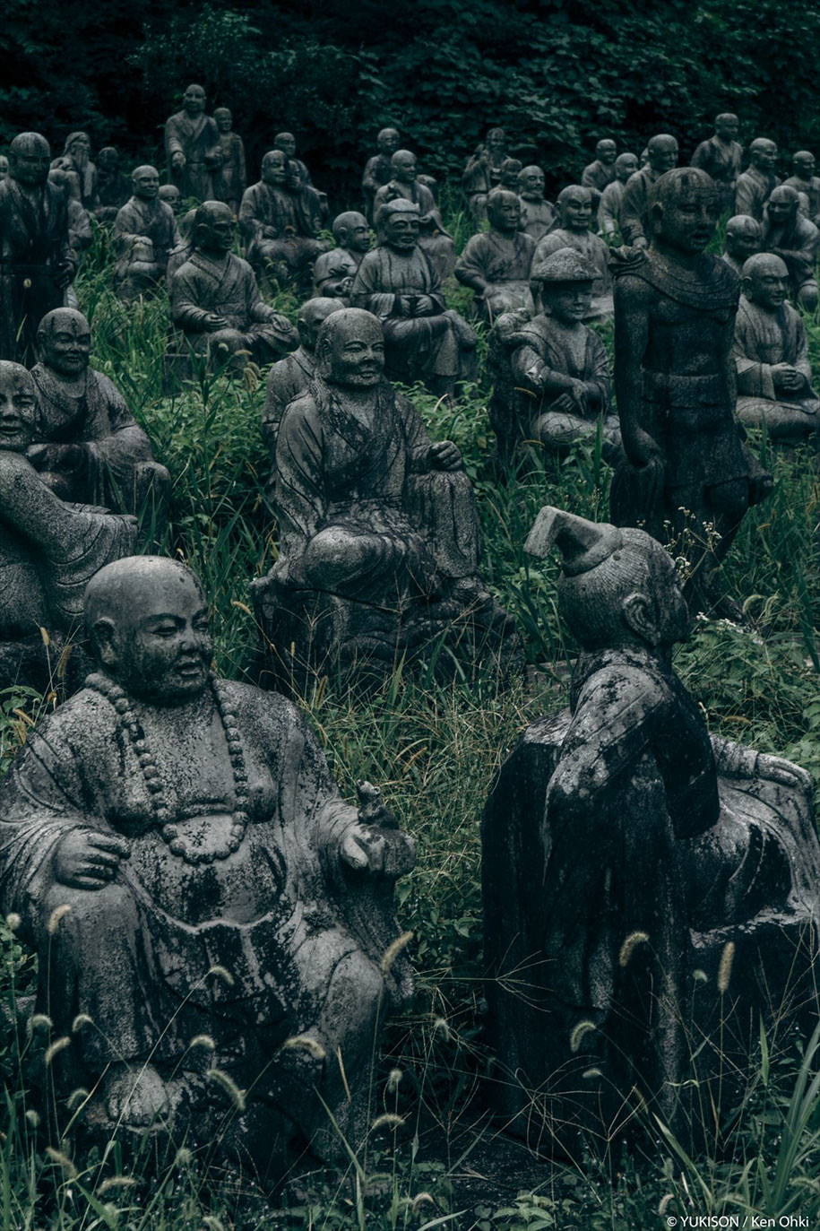 creepy-statues-forbidden-forest-japan-yukisons-ken-ohki-15