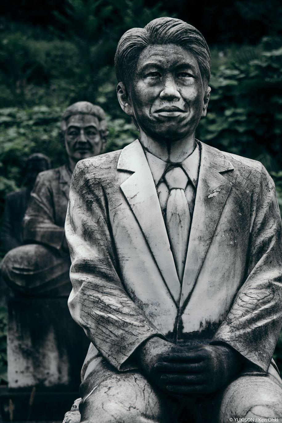 creepy-statues-forbidden-forest-japan-yukisons-ken-ohki-16