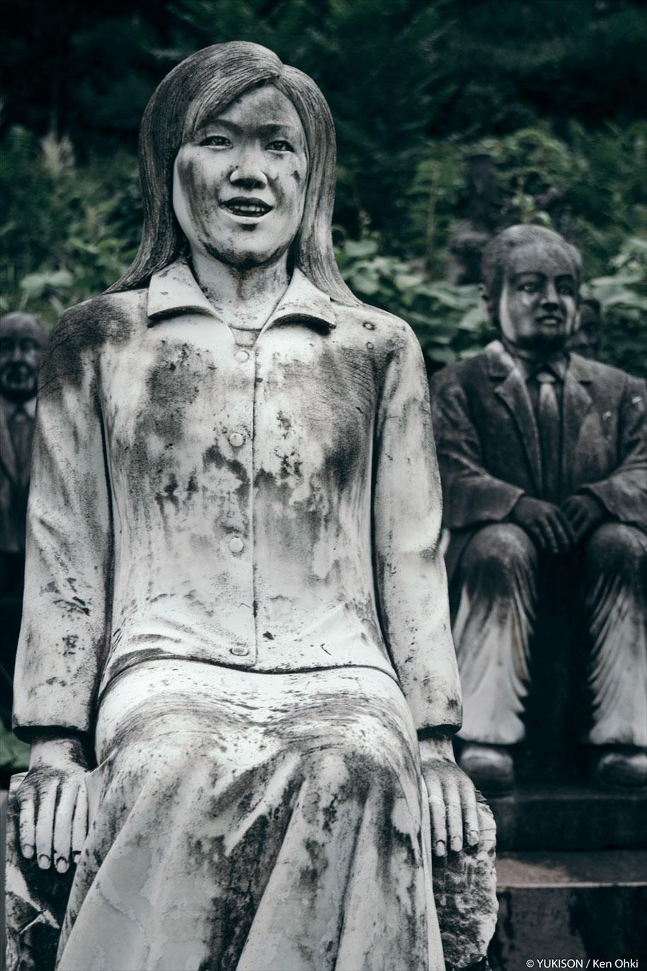 creepy-statues-forbidden-forest-japan-yukisons-ken-ohki-17