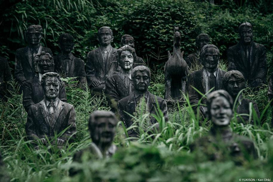creepy-statues-forbidden-forest-japan-yukisons-ken-ohki-23