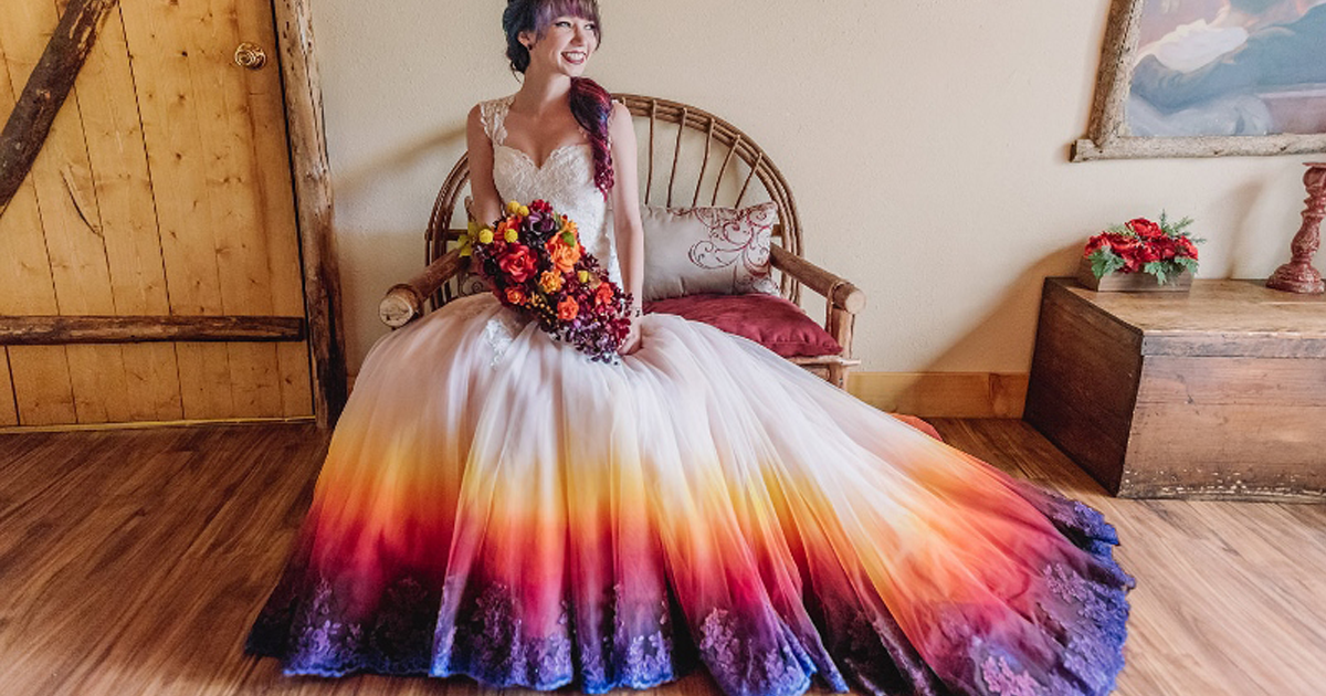 Wedding Dresses Colorful