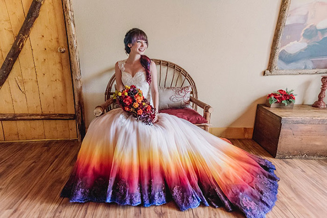 Dyed wedding dresses bring color to that special day junglespirit Images