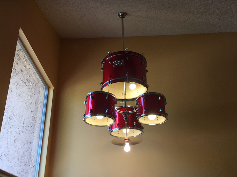 How To Make A Drum Set Chandelier