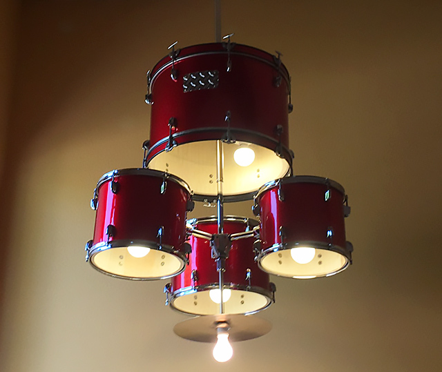 How To Make A Drum Set Chandelier Demilked