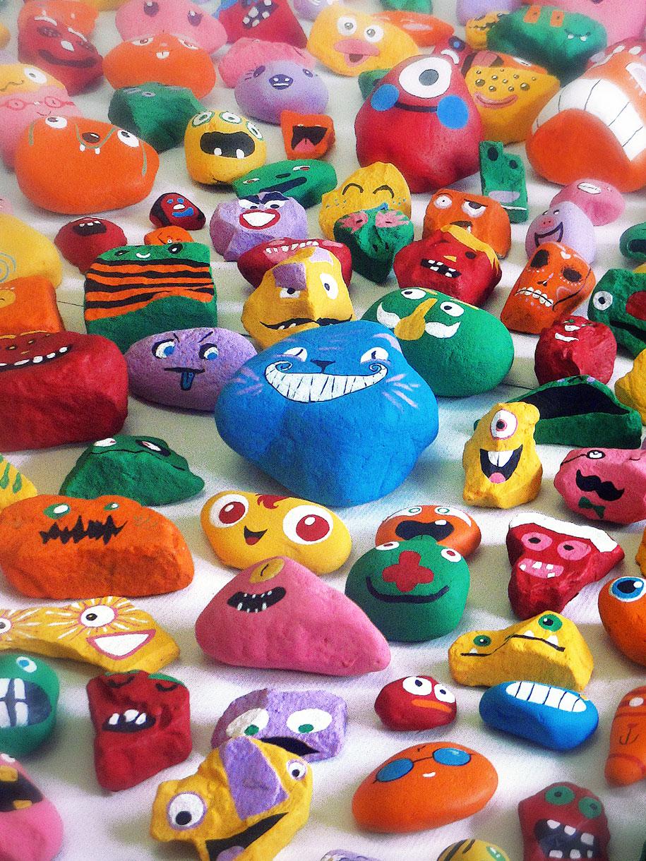 kid-paints-1000-painted-rocks-aaron-zenz-14