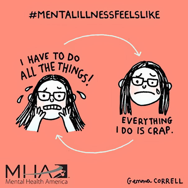 Mental Illness Feels Like Illustrations Gemma Correll 3