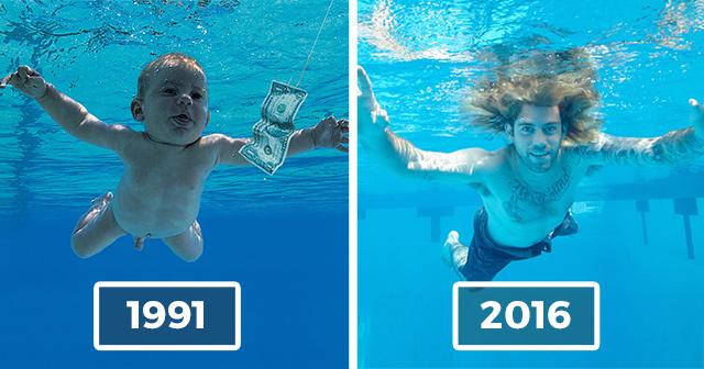 nirvana baby recreates album cover photo 25 years later