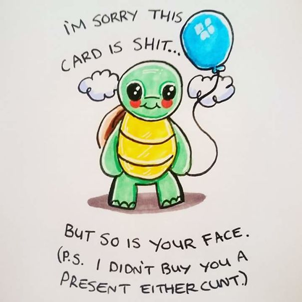 Offensive Cute Greeting Cards Phil Wall