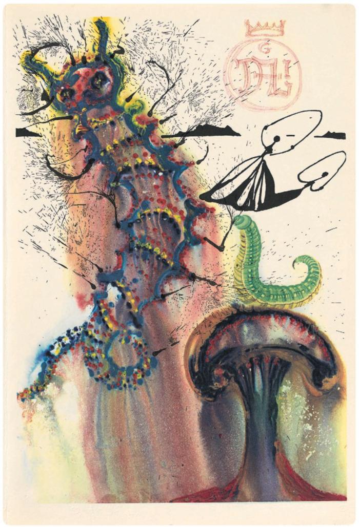 Unseen Salvador Dali's Paintings Of Alice In Wonderland
