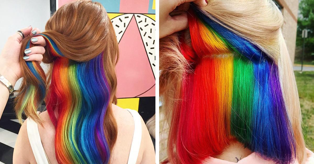 Hidden-Rainbow Hair Is The New Trend In London