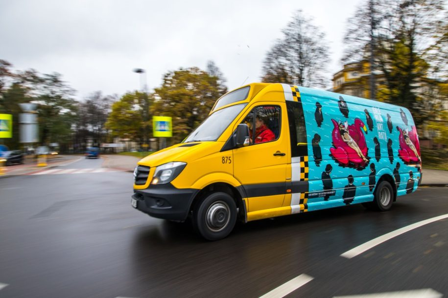 Gallery on wheels