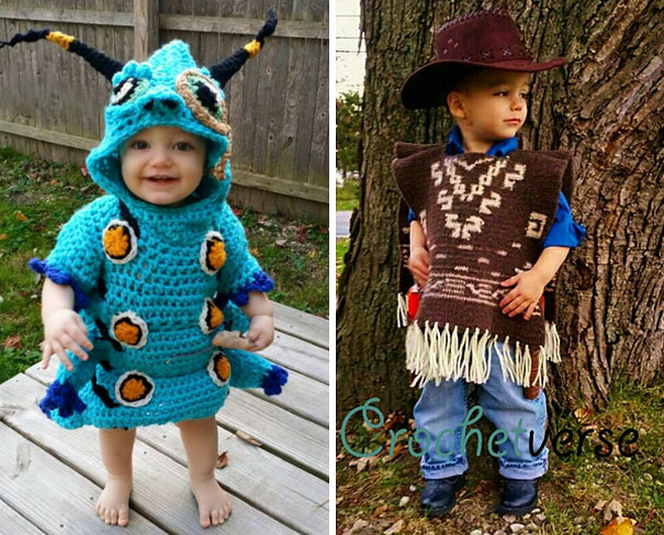 Mom Crochets Et Costume For Her Son In Only 4 Days Demilked