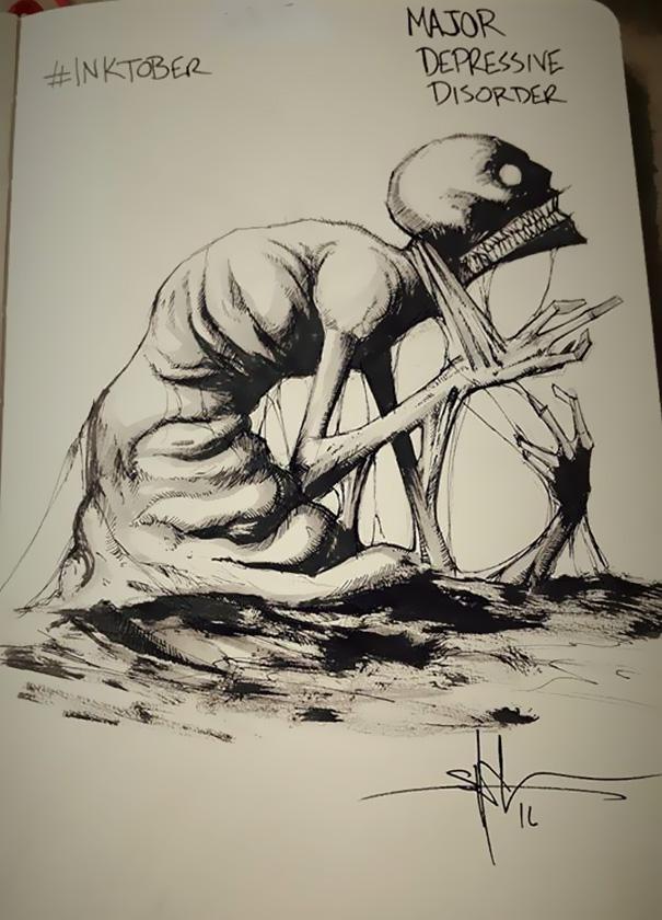mental-illness-disorders-illustrations-inktober-shawn-coss7