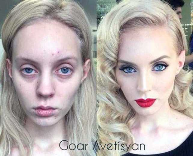 The power of makeup: 14 unbelivable before and after shots of