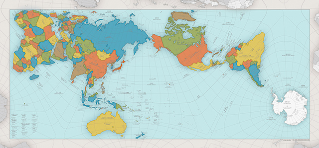 More accurate world map wins at the design awards in japan gumiabroncs Choice Image