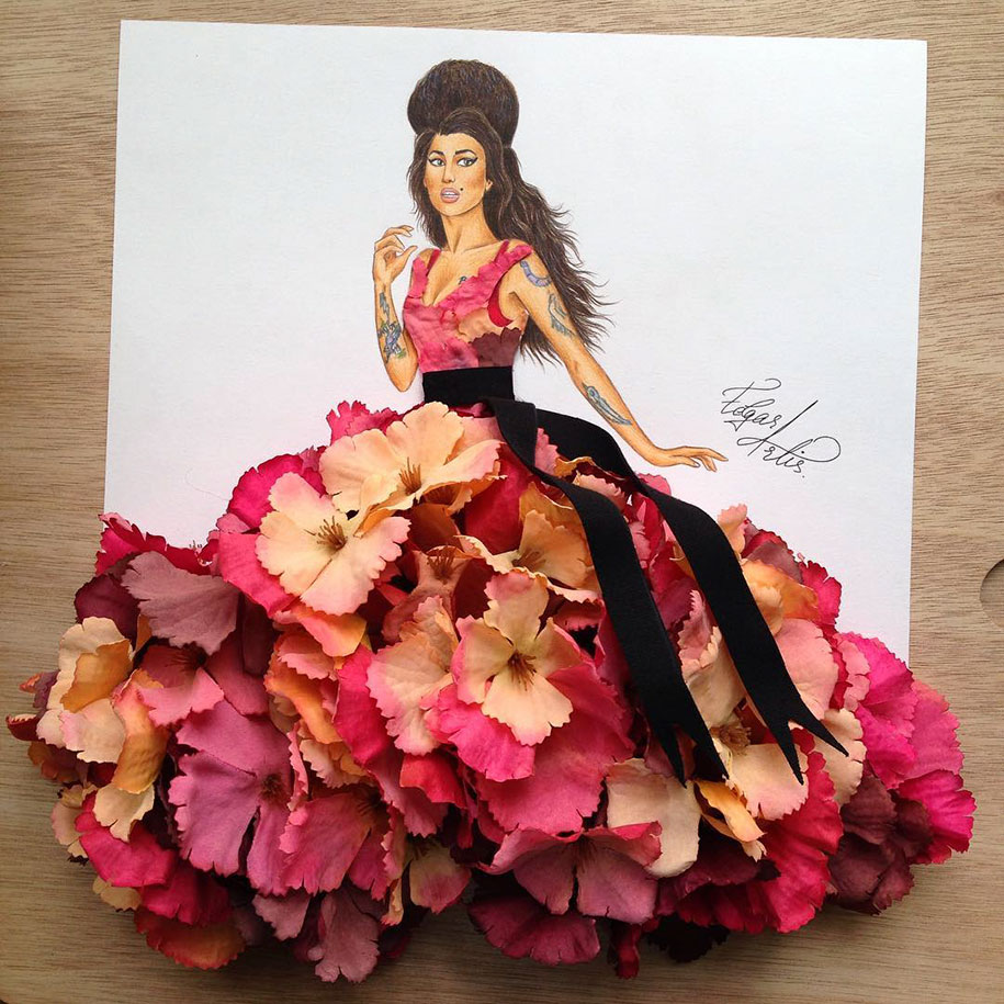 Armenian Illustrator Creates Amazing Dress Designs Using