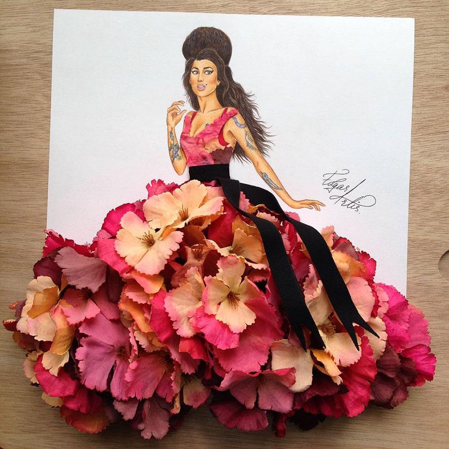 armenian illustrator creates amazing dress designs using