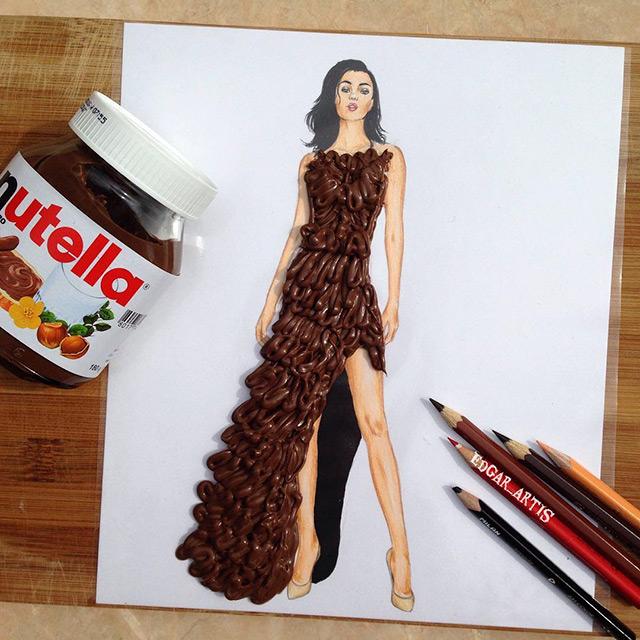 armenian illustrator creates amazing dress designs using everyday