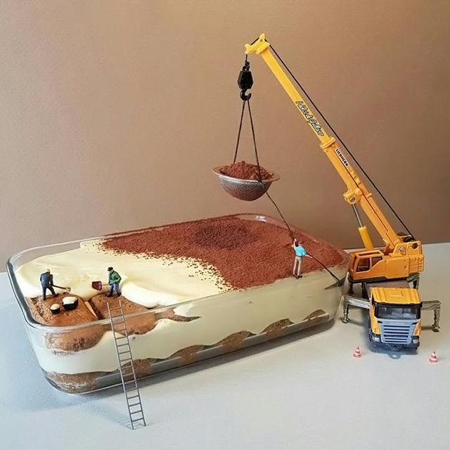italian pastry chef turns desserts into miniature worlds