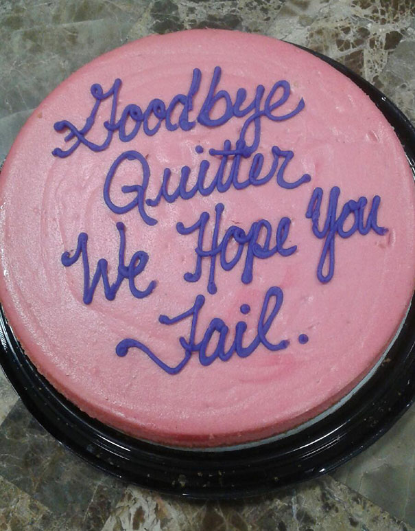 15 Funniest Farewell Cakes Employees Got On Their Last Day
