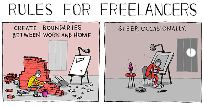 7 Funny Rules Reveal The Daily Struggles Of Freelancers