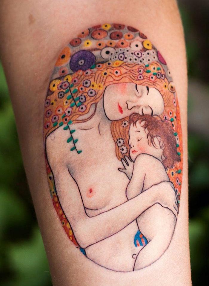 artistic-tattoos-gustav-klimt-2