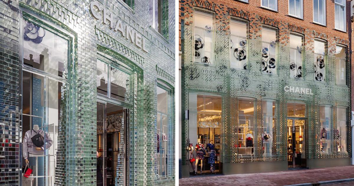 Glass Bricks Stronger Than Concrete Replace The Facade Of