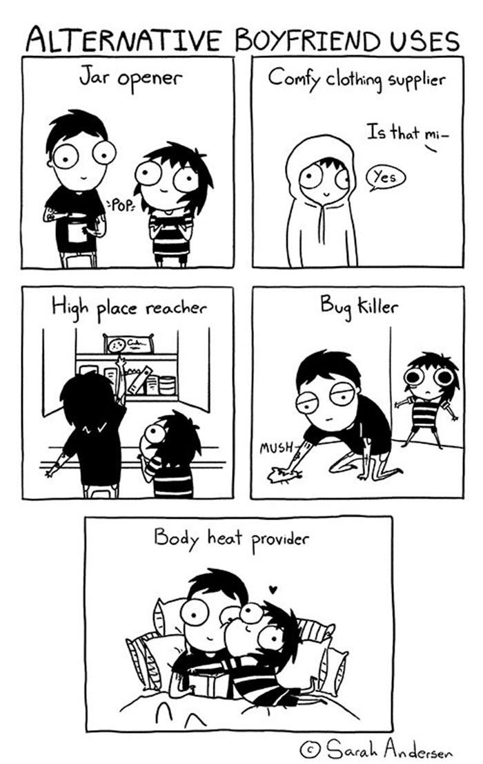 Funny Comics Sum Up All LongTerm Relationships - Illustrator perfectly sums up what its like to be a woman in funny comics
