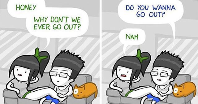 20 funny comics sum up all long term relationships
