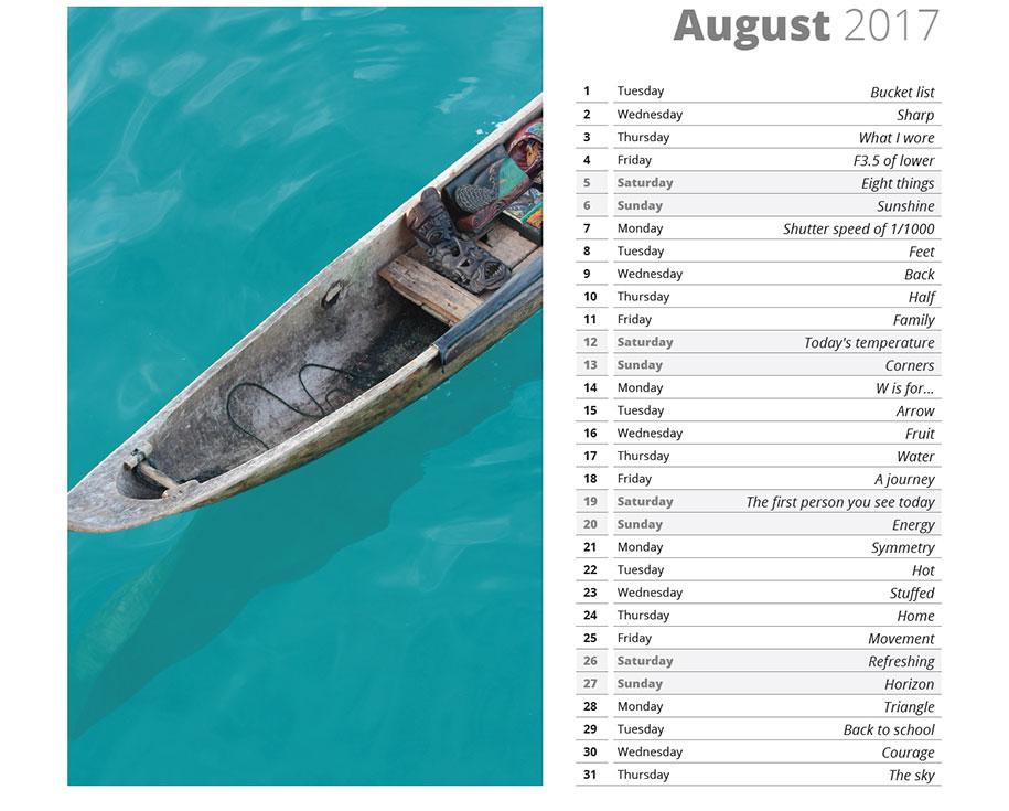 2017 Photo Challenge Calendar With 365 Photo Ideas Demilked