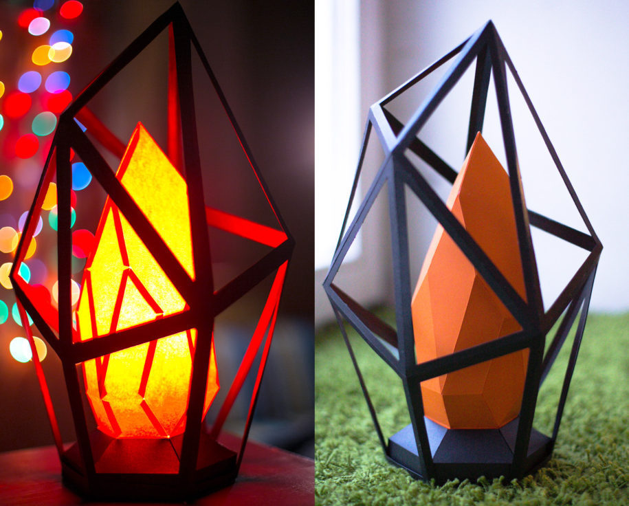 awesome homemade paper lamp with homemade paper