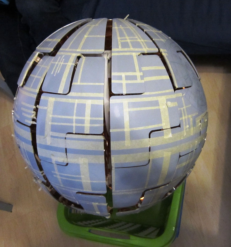 This Lady Transformed An Ordinary Ikea Lamp Into A Legit Death Star