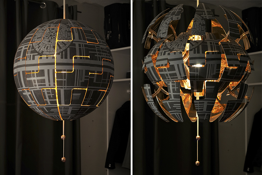 Hang It On Your Ceiling As Instructed U2013 You Will Need A Hook For That U2013 And  Enjoy Your Death Star Lamp U2013 Itu0027s Awesome!