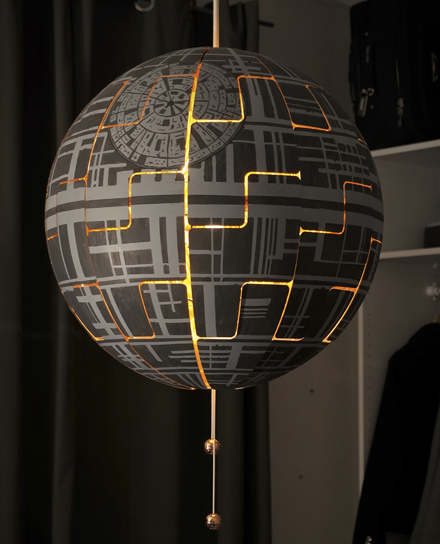 Lampadario Ikea Ps 2019.Woman Turns Ikea Lamp Into A Death Star