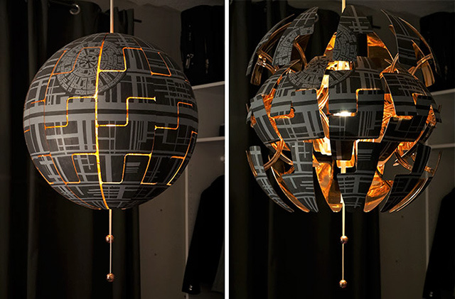 Lampada Vintage Ikea : Woman turns ikea lamp into a death star