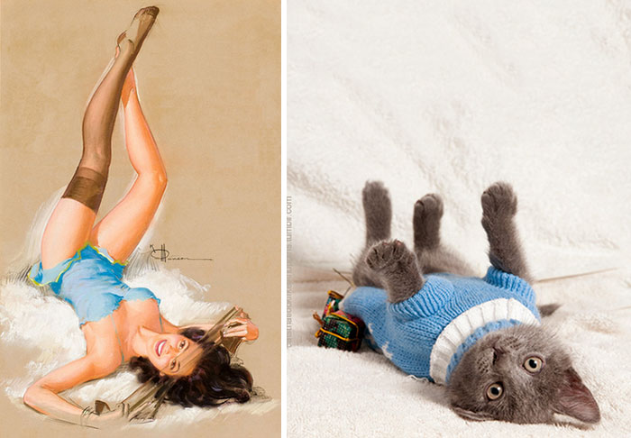 funny-cats-vintage-pin-up-girls-2