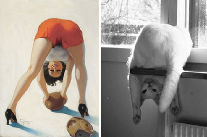 funny-cats-vintage-pin-up-girls-5