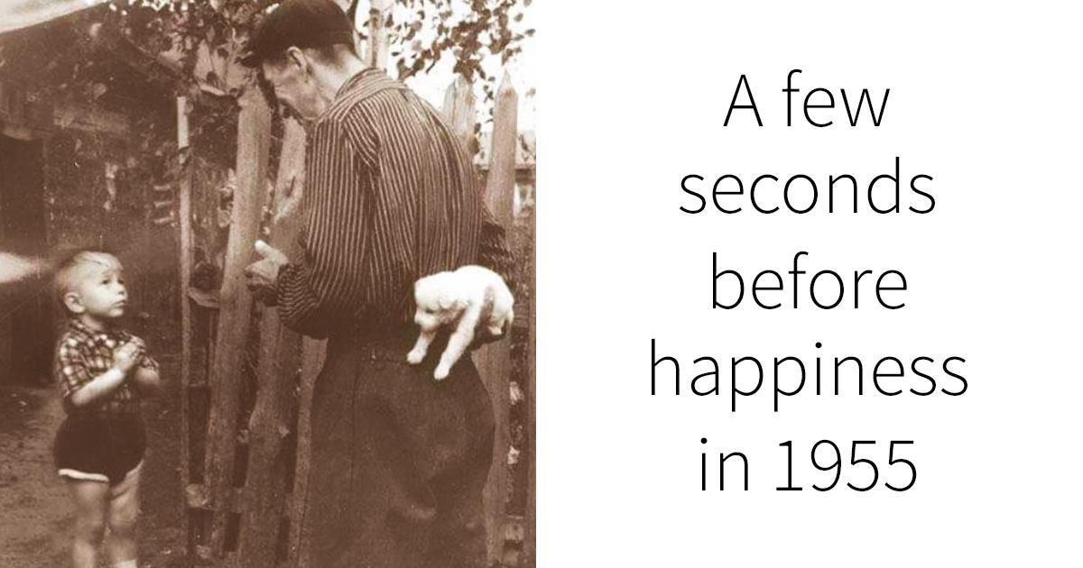 10 heartwarming vintage photos show a happier side of history. Black Bedroom Furniture Sets. Home Design Ideas