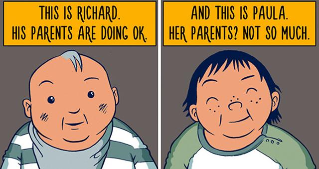 White male privilege cartoon